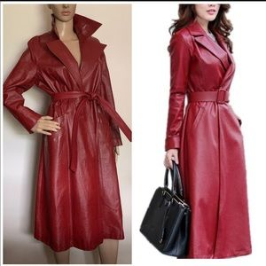😍Vintage style Leather Trench Coat😍